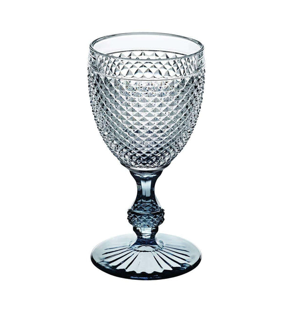 Vista Alegre Bicos Bicolor Goblet with Grey Stem