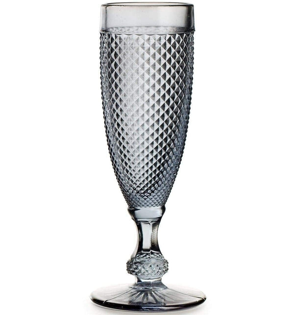 Vista Alegre Bicos Grey Champagne Flutes - Set Of 4 49000093