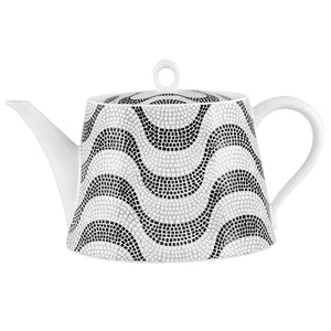 Vista Alegre Vista Alegre Calcada Portuguesa Tea Pot in White & Black 21132220
