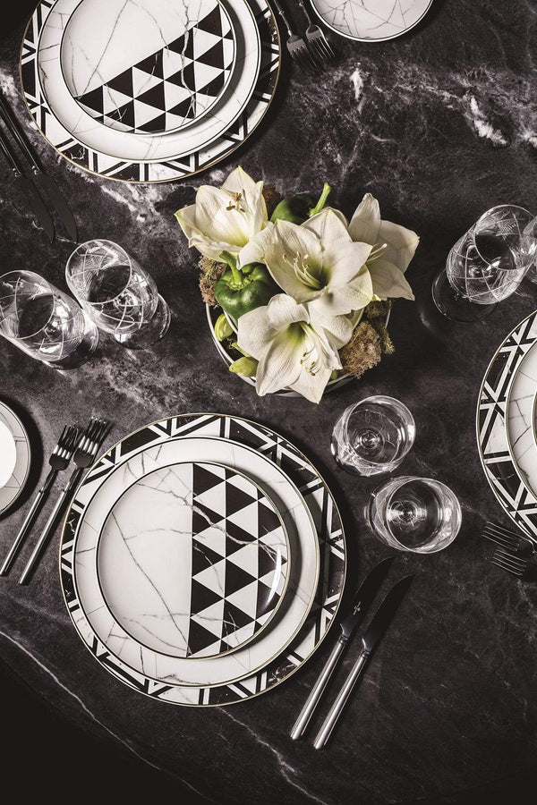 Vista Alegre Carrara Marble Chevron 5-Piece Place Setting 21128682