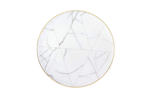 Vista Alegre Carrara Marble Chevron Dinner Plate 21124352