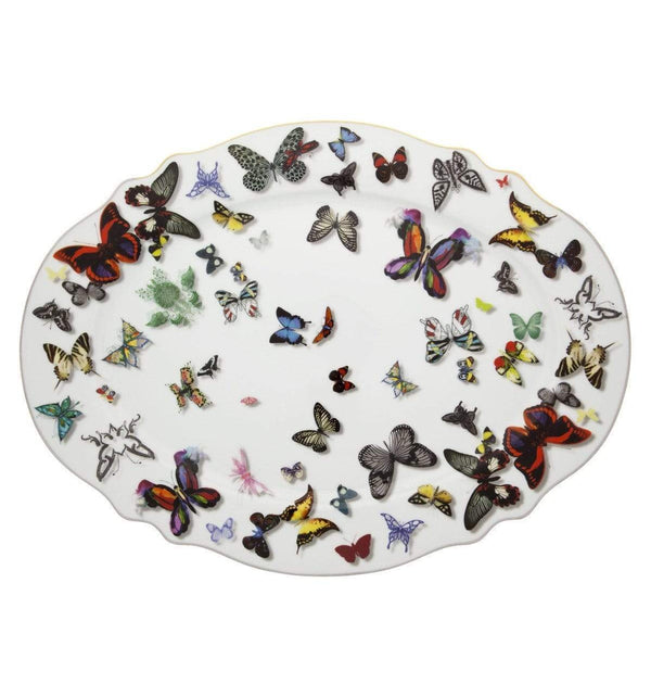 Vista Alegre Christian Lacroix Butterfly Parade Large Oval Platter 21117738