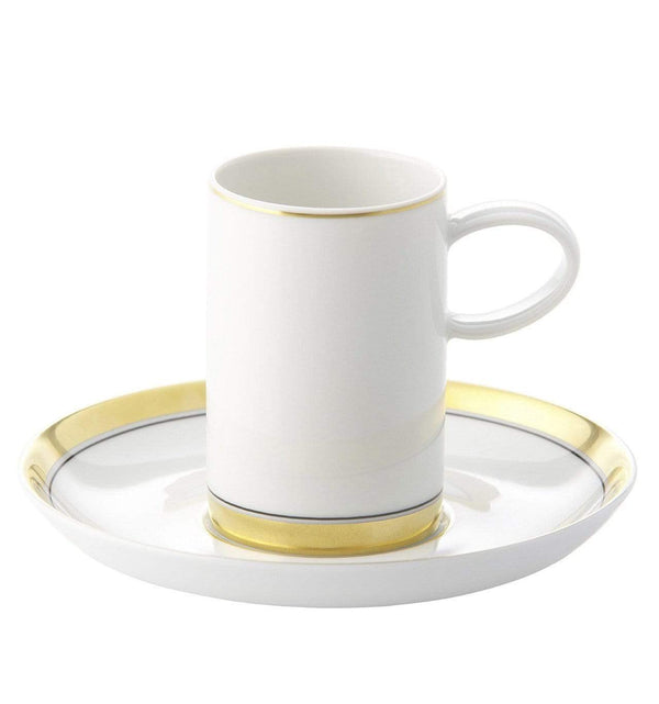 Vista Alegre Domo Gold Coffee Cup & Saucer 21100871