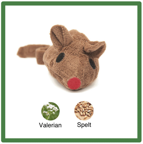 Plush Brown Valerian Mouse Cat Toy