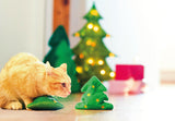 Cat playing with plush valerian Christmas Tree
