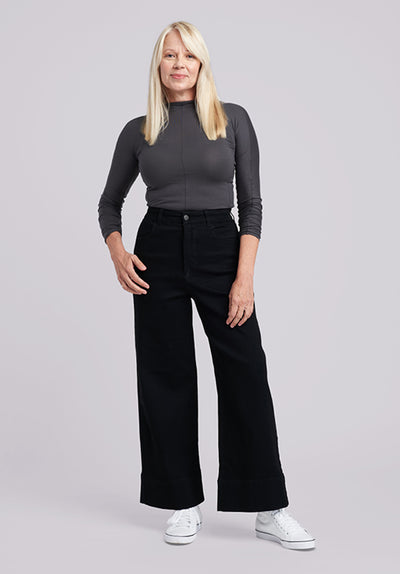 Promo - NEW: Ultra-wide leg high rise jeans...