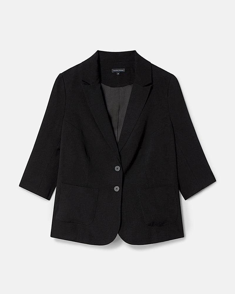 Meg Short Blazer - Black