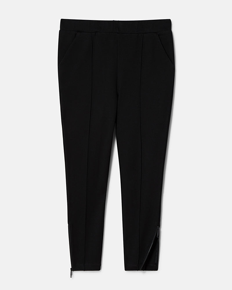 Moro Pintuck Pocket Ponte Pants - Black