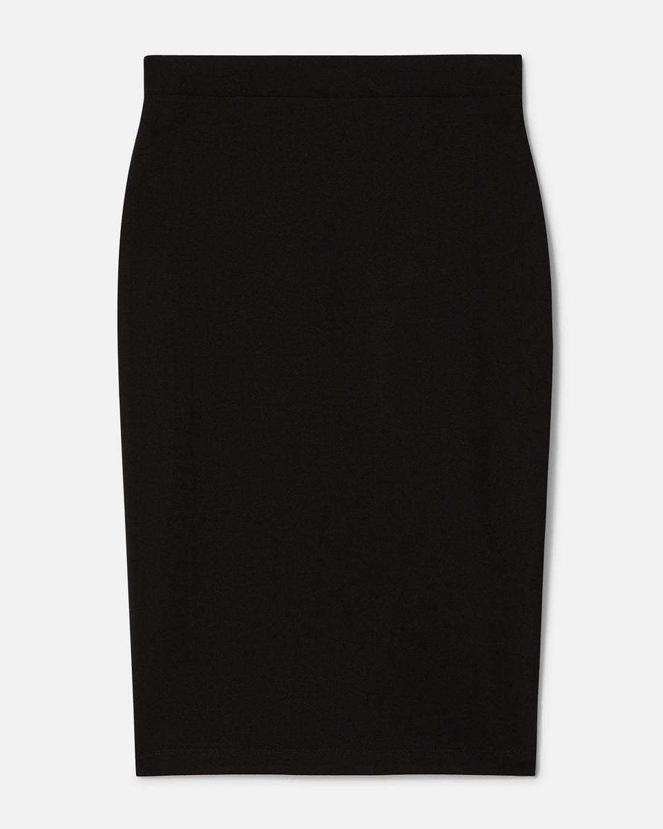 Danube Heavyweight Jersey Skirt - Black