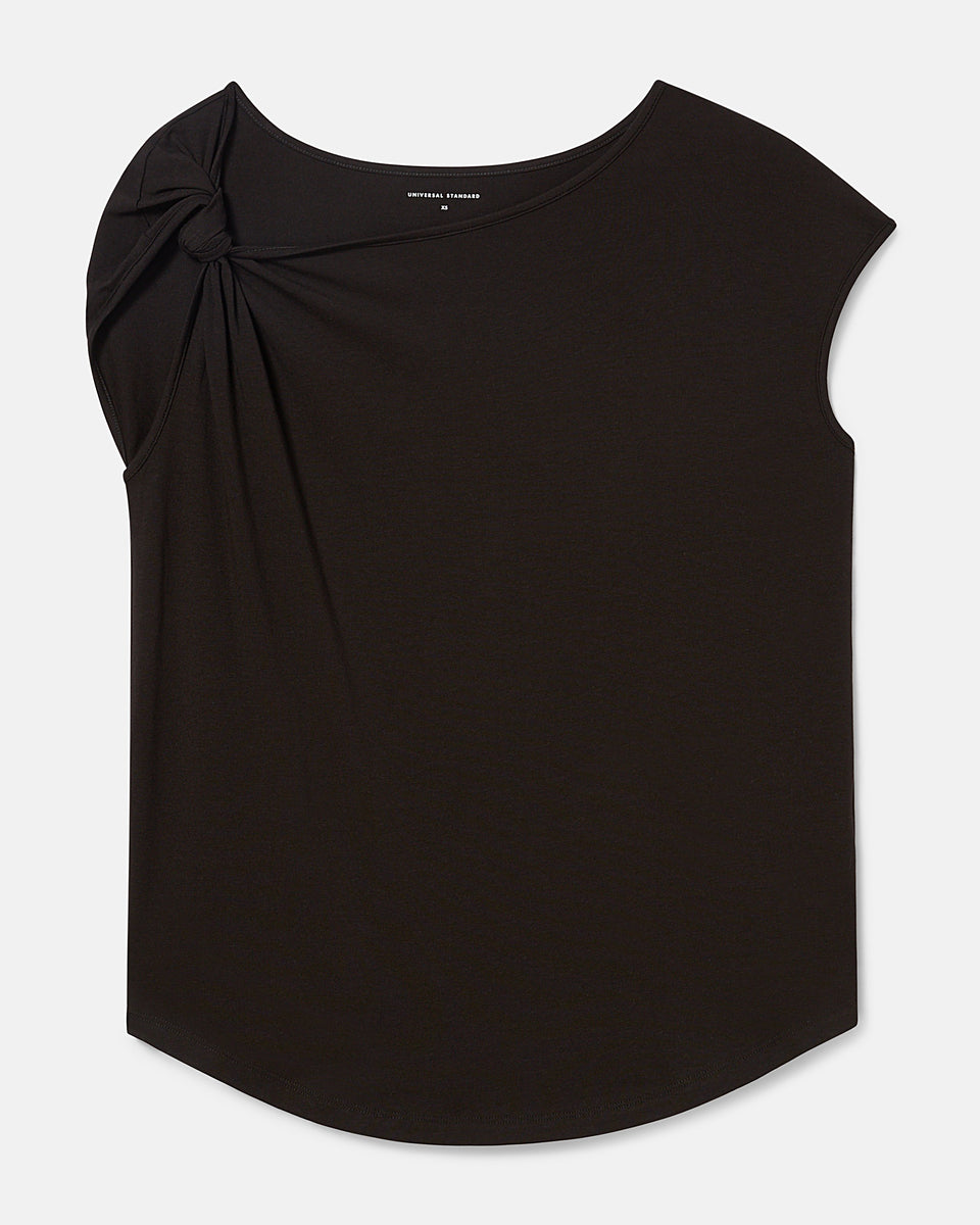 Jersey Knot Top - Black