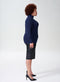Aso Ribbed Turtleneck Sweater - Navy