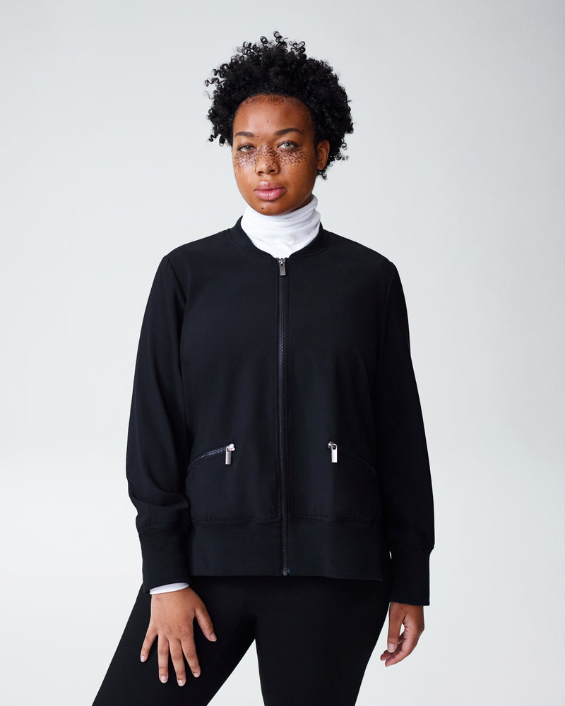 Barra Suiting Bomber - Black