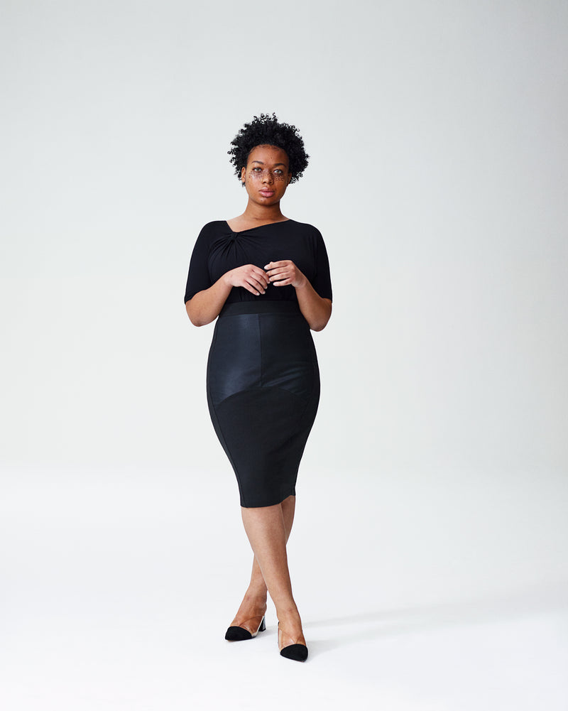 Carver Panel Skirt - Black