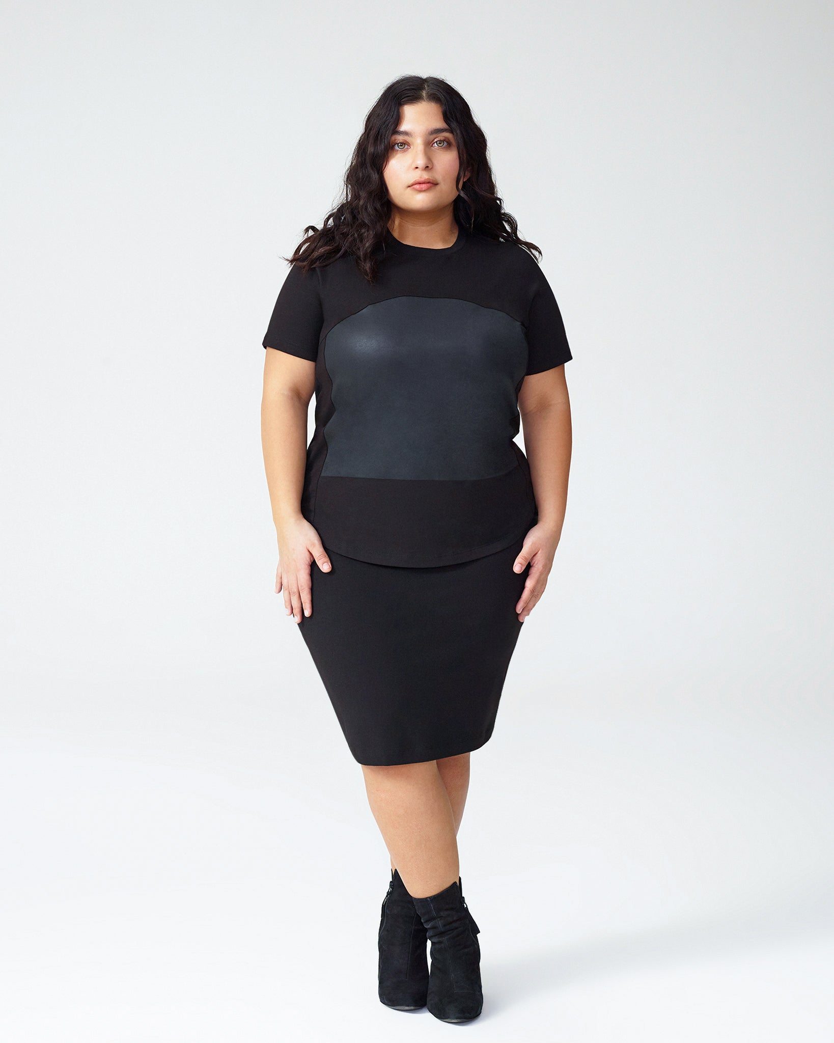 Petite Carver Top - Black