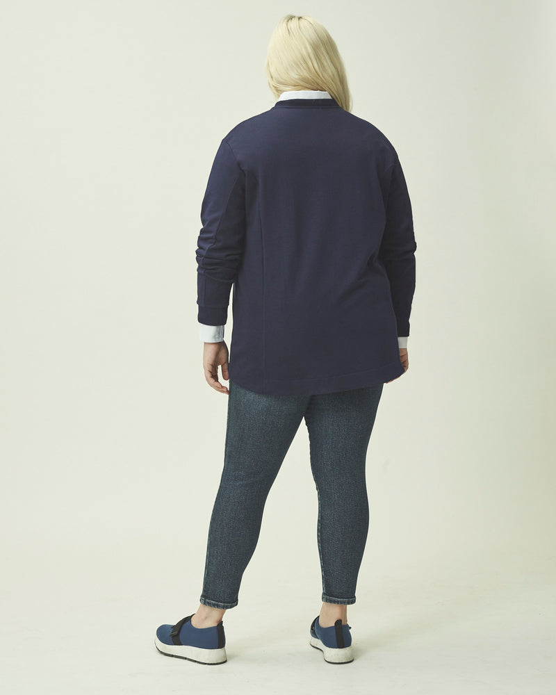 Corbelle Zip Pullover - Evening Blue