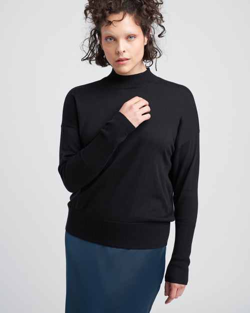 Mel Mockneck Sweater - Black