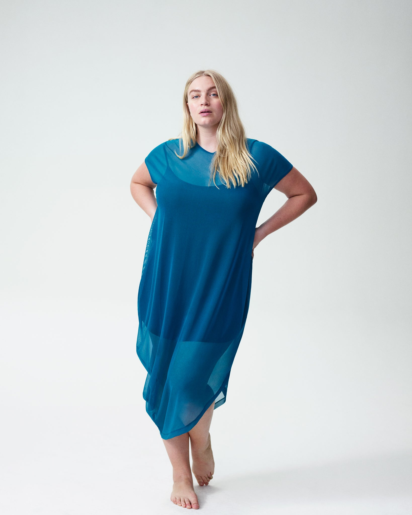 Geneva Fog Dress - Marine