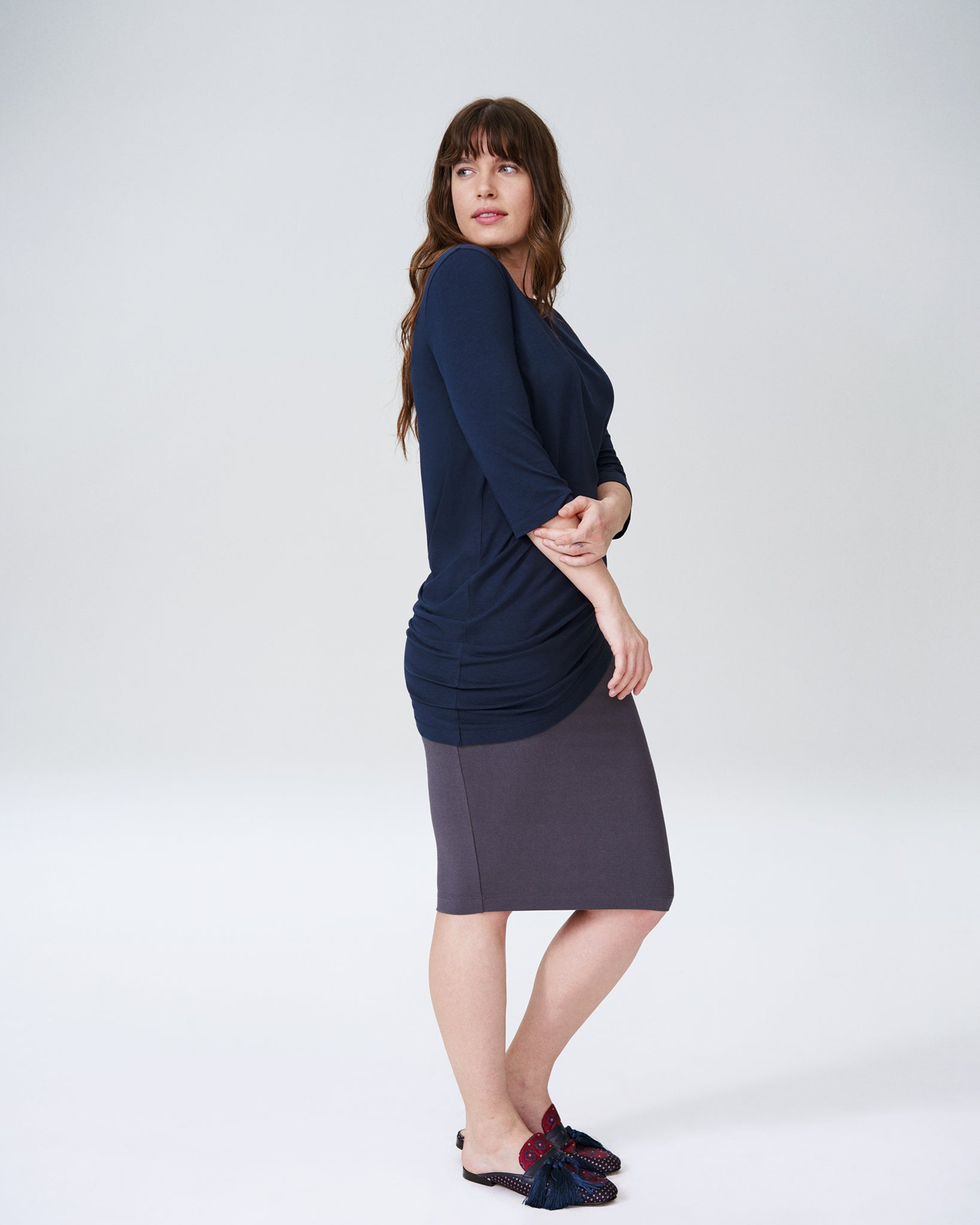 Genevette Top - Navy
