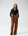 Tresa Wide Leg Tie Pants - CaramelImage #1
