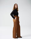 Tresa Wide Leg Tie Pants - CaramelImage #2
