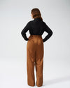 Tresa Wide Leg Tie Pants - CaramelImage #3