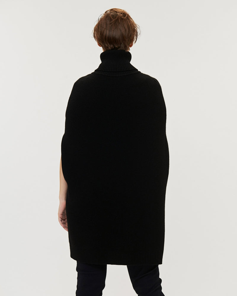 Hudson Knit Cape - Black