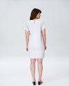 Isabelle Luxe Twill Sheath Dress - Dove GreyImage #3