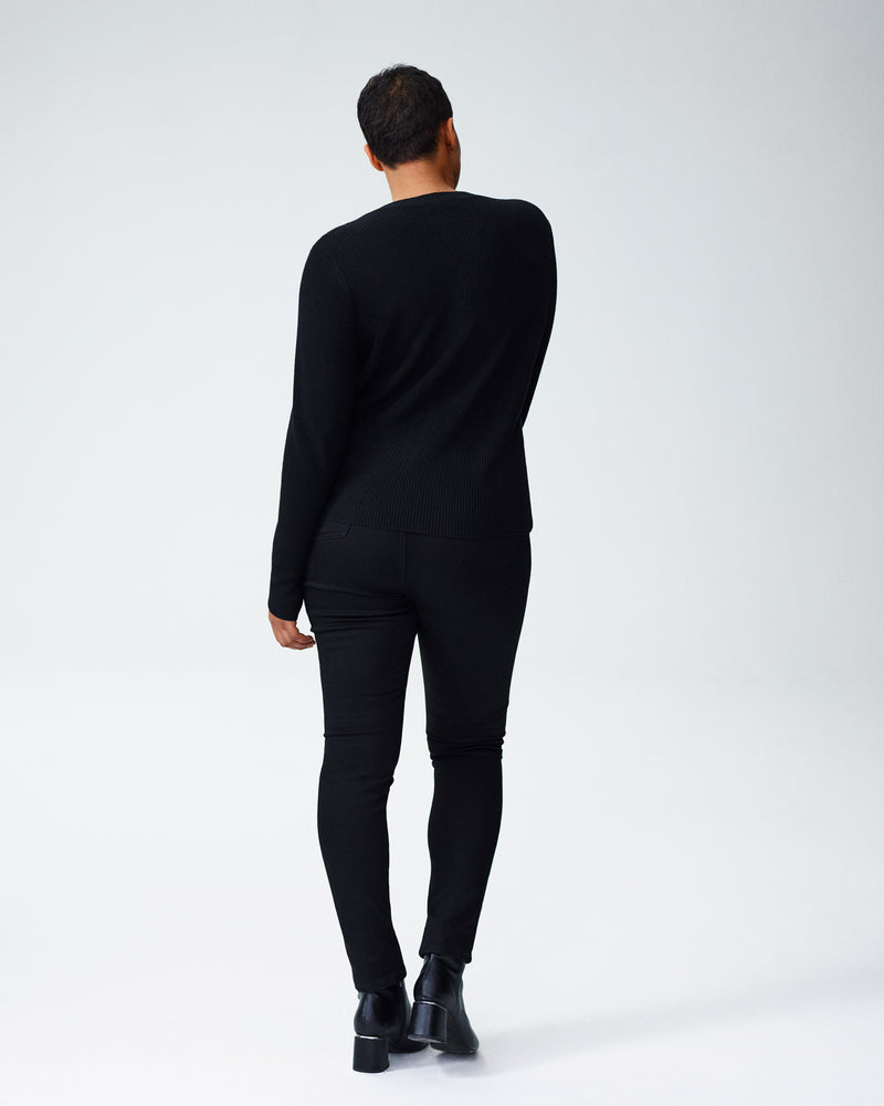 Kirsten Lace-Up Sweater - Black