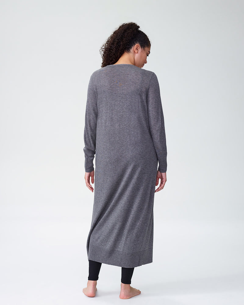 Lennox Long Sweater - Heather Grey