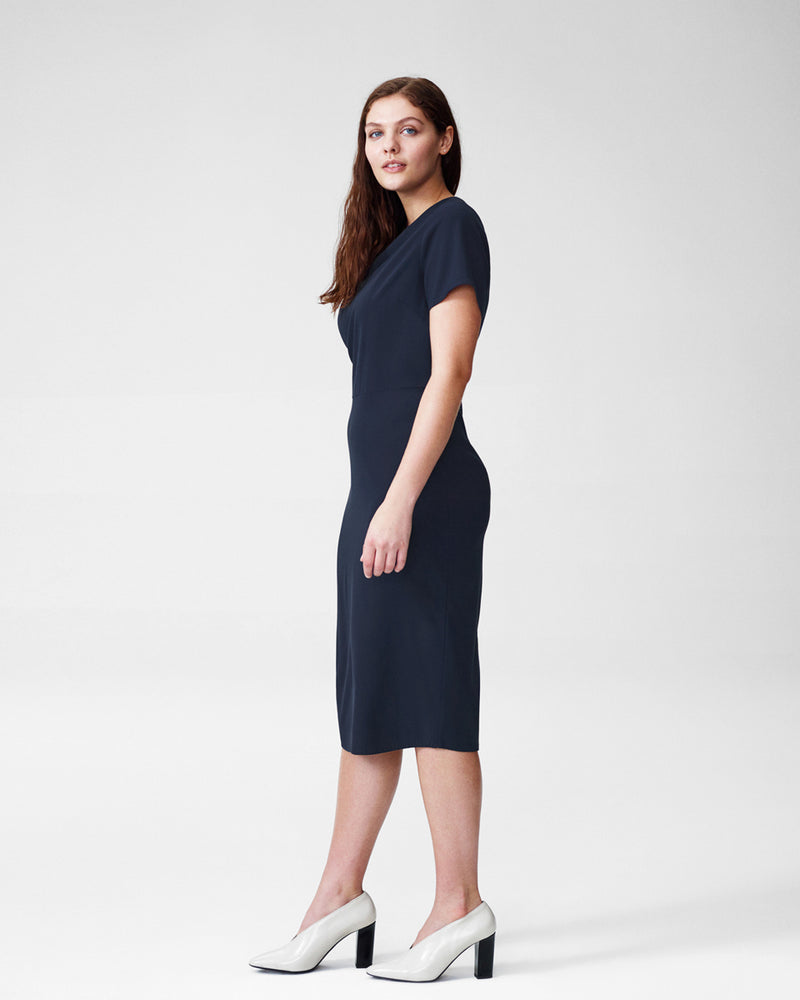 Mary Dress - Navy