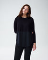 Dalia Mixed Media Sweater - Black Image Thumbnmail #1
