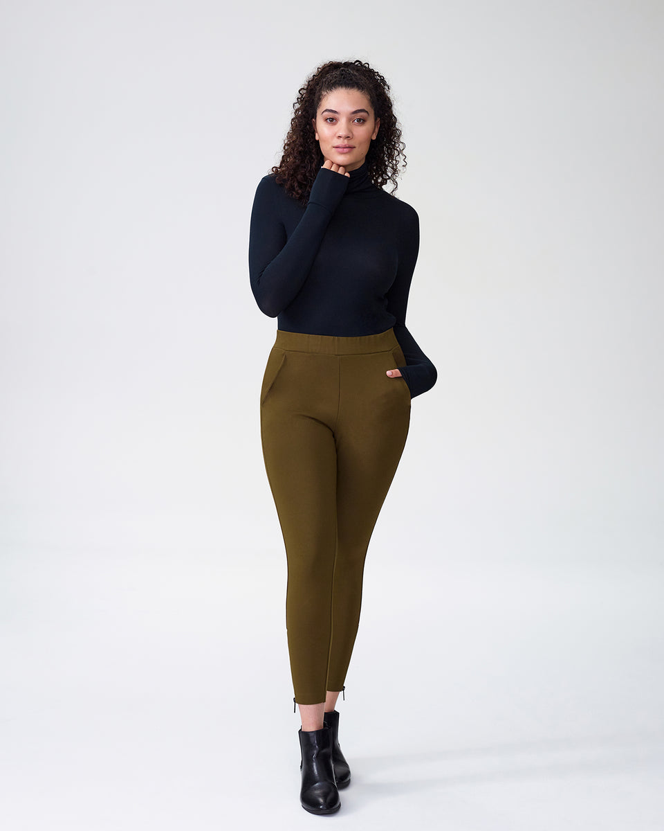 Moro Pocket Ponte Pants - Olive