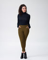 Moro Pocket Ponte Pants - OliveImage #2