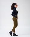 Moro Pocket Ponte Pants - OliveImage #3