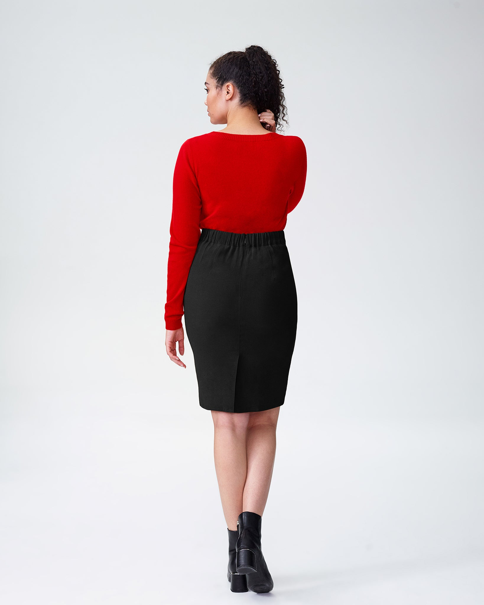 Bing Crepe Skirt - Black