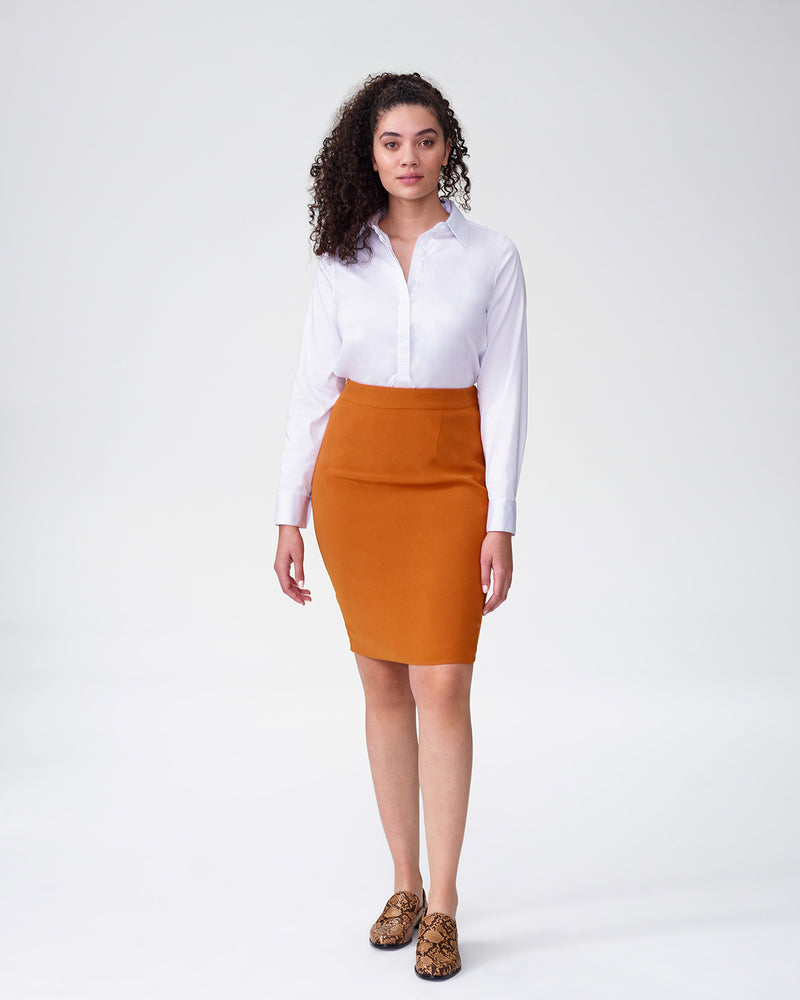 Bing Crepe Skirt - Pumpkin