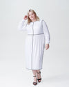 Arga Outline Dress - White Image Thumbnmail #1