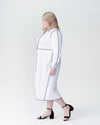 Arga Outline Dress - White Image Thumbnmail #2