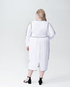 Arga Outline Dress - White Image Thumbnmail #3