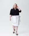 Navia Outline Wrap Skirt - White Image Thumbnmail #1