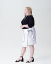 Navia Outline Wrap Skirt - White Image Thumbnmail #2