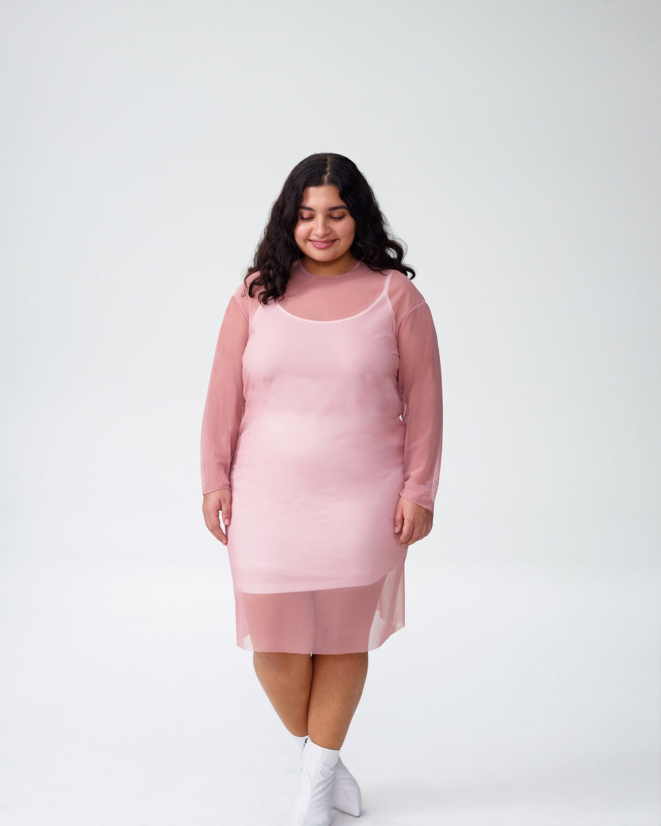 Petite Thames Fog Dress - Rose