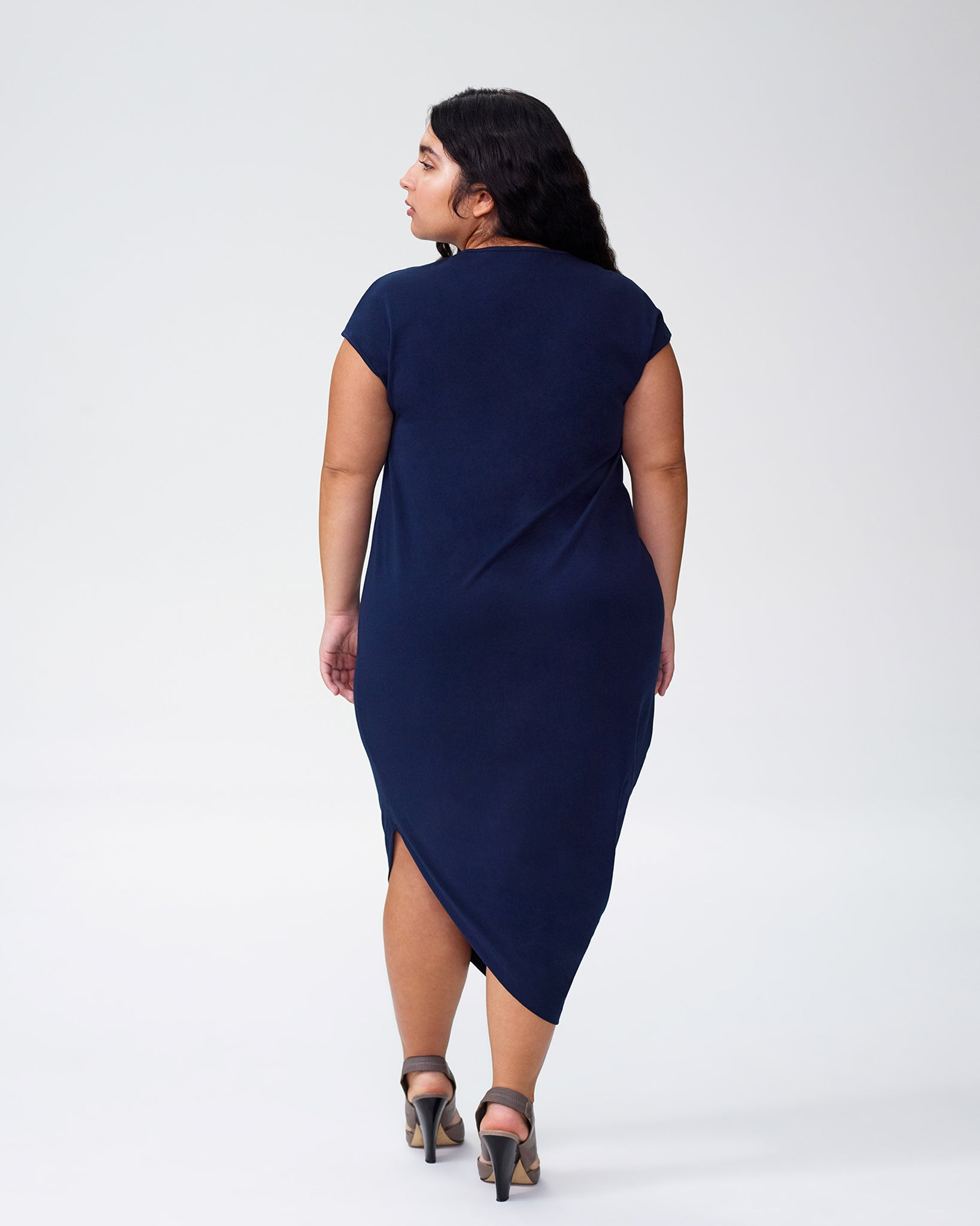 Petite Geneva Dress - Navy