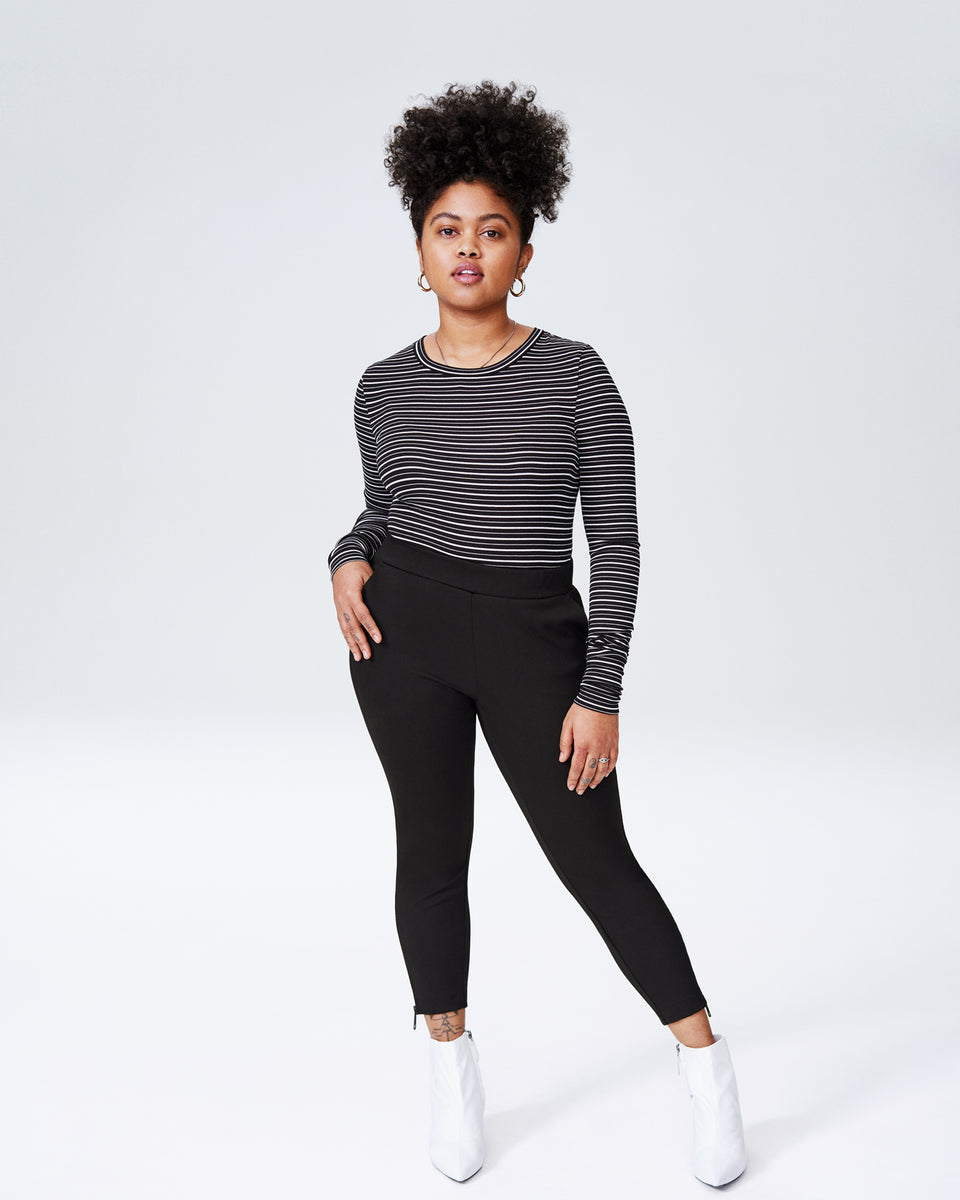 Petite Moro Pocket Ponte Pants - Black