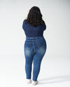 Seine High Rise Skinny Jeans Petite - Distressed Blue Image Thumbnmail #3