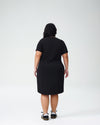 Petite Tesino Washed Jersey Dress - BlackImage #3