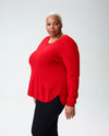 Raquette Cashmere Sweater - Poppy Red Image Thumbnmail #4