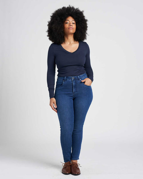 Seine High Rise Skinny Jeans 27 Inch - True Blue