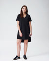 Tesino Washed Jersey Dress - Black Image Thumbnmail #1