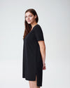 Tesino Washed Jersey Dress - Black Image Thumbnmail #3